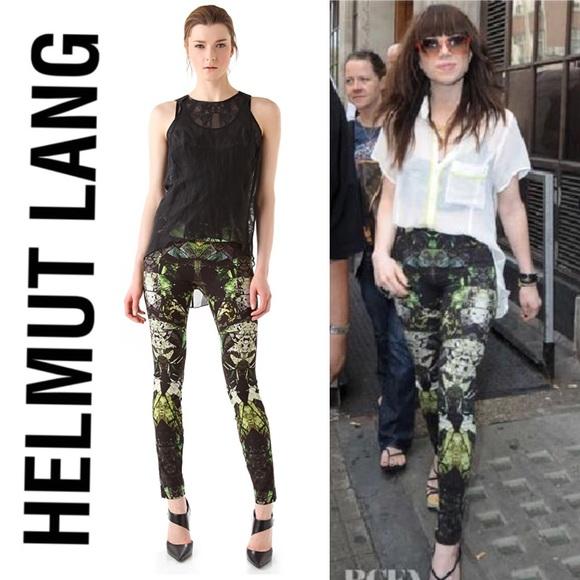 b0446bed9bccdb Helmut Lang Pants - Helmut Lang Cicada Print Reflex Leggings